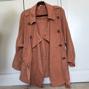 Free People Fall Button Tie Jacket